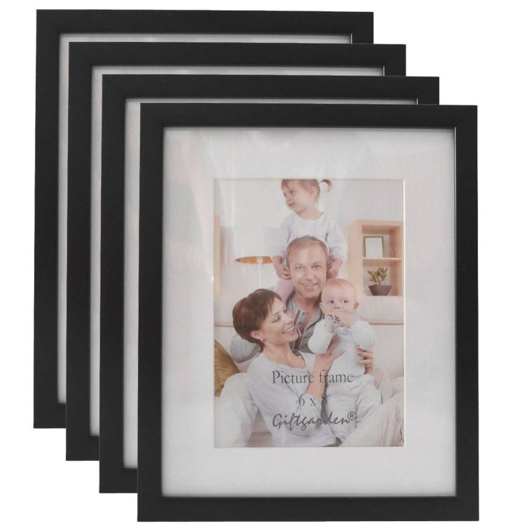 Giftgarden 8 x 6 Picture Photo Frames Synthetic Wood Frame 8x6 set 4 Pieces